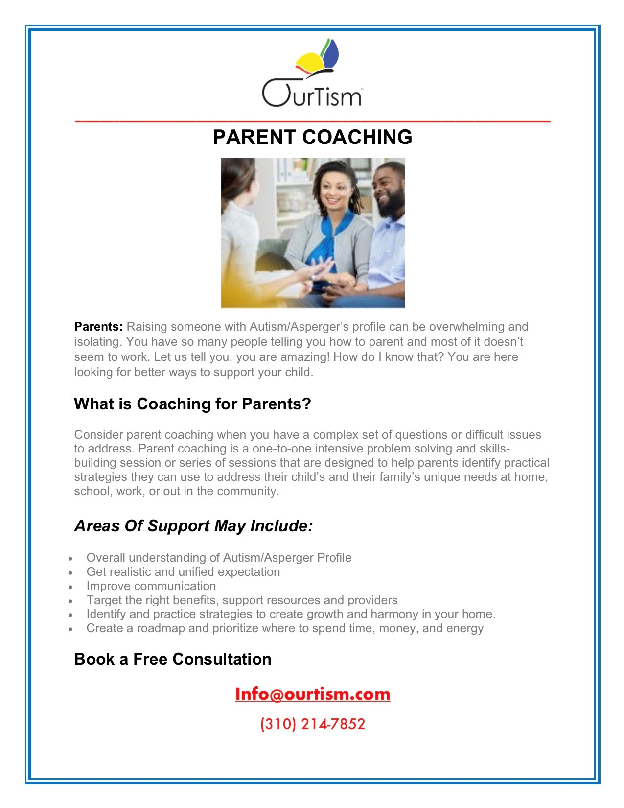 OurTism Parent Coaching | HaMercaz | The Jewish Federation of Greater Los Angeles