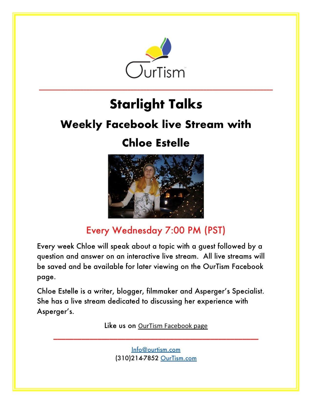 OurTism Starlight Talks | HaMercaz | The Jewish Federation of Greater Los Angeles