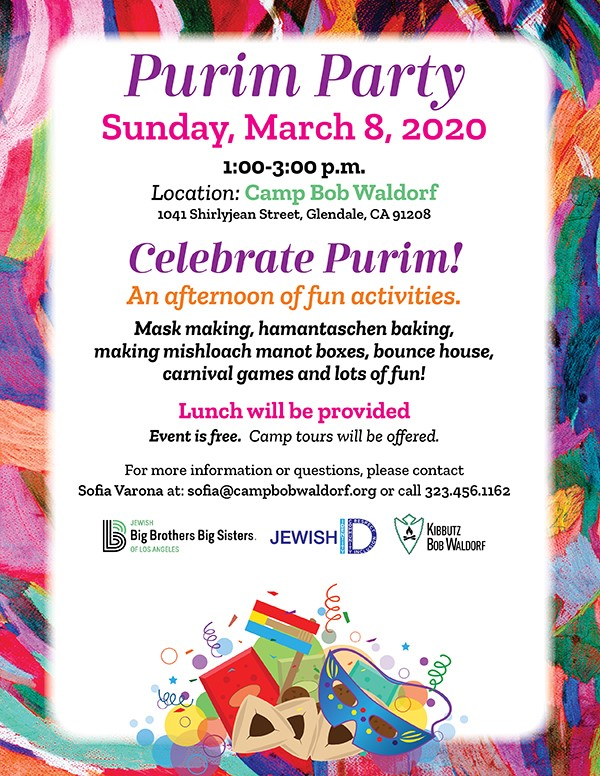 Purim Flyer | HaMercaz | The Jewish Federation of Greater Los Angeles