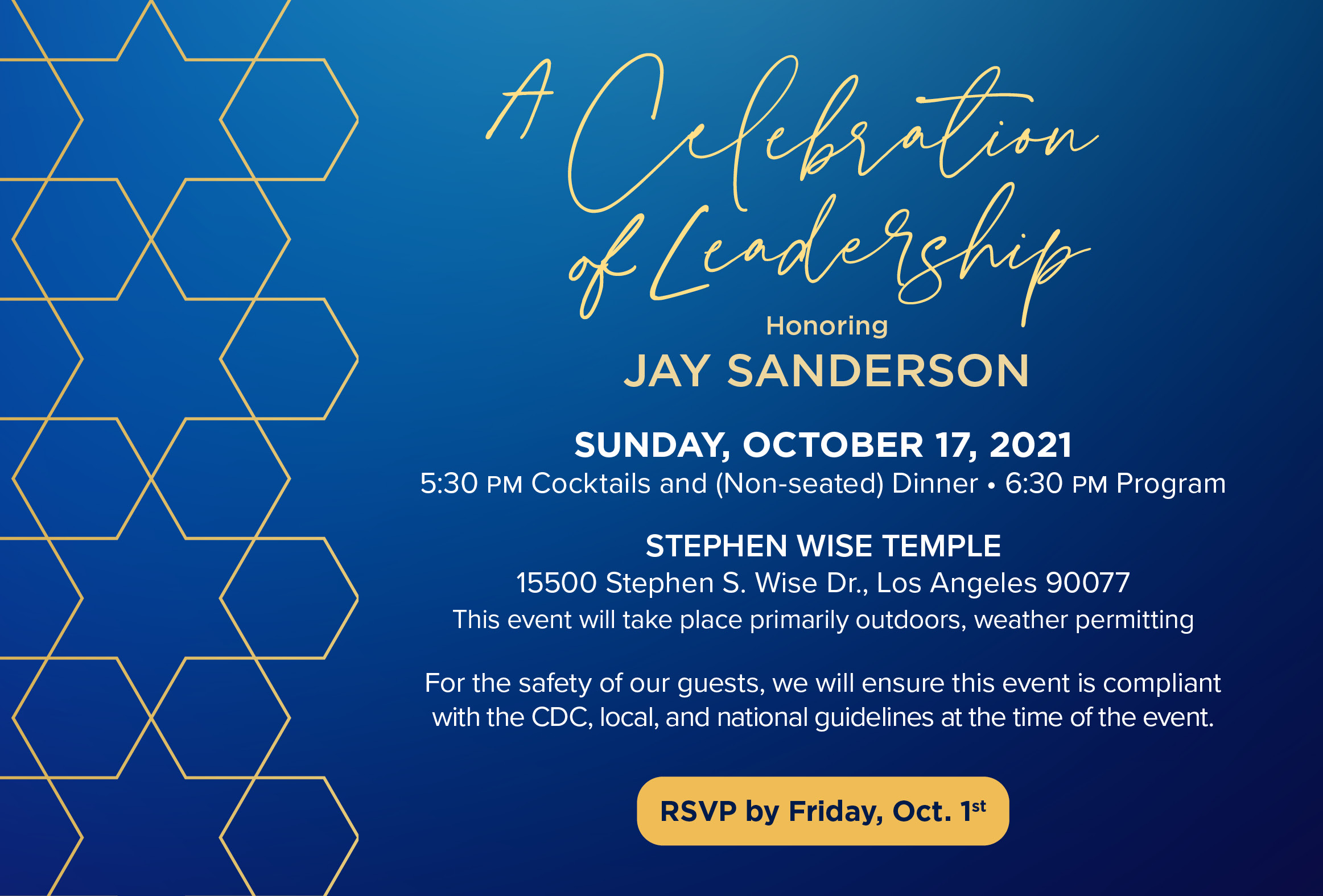 Celebration of Leadership Honoring Jay Sanderson